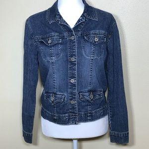 CHICO'S Platinum jean jacket